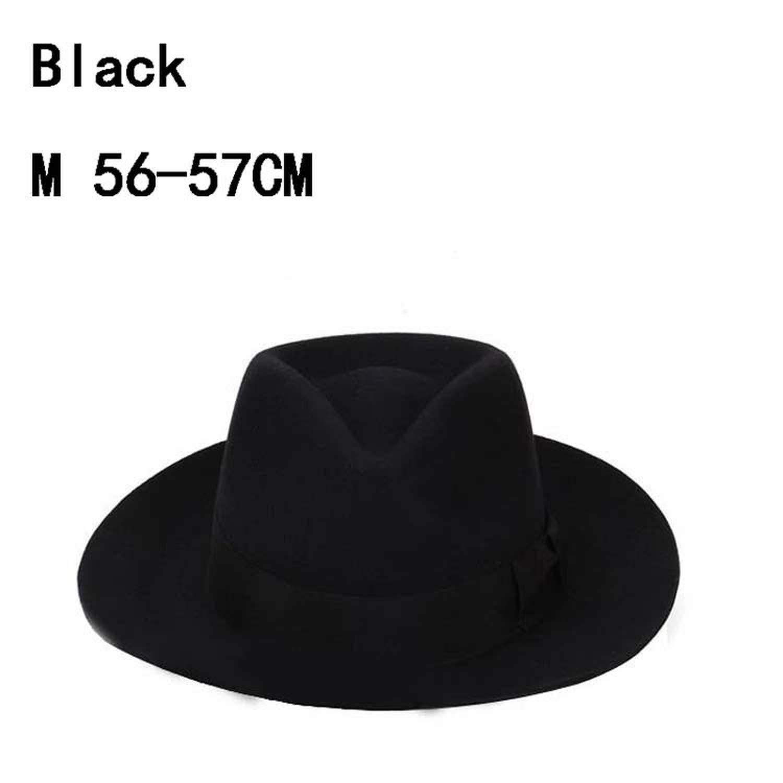Fedora Hats Fashion Woolen Male hat Vintage Performance Cap