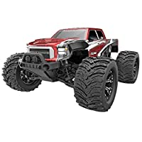 Dukono Red 1/10 Truck with Electric Speed Controller, Charger, Battery, and 2.4GHZ Radio
