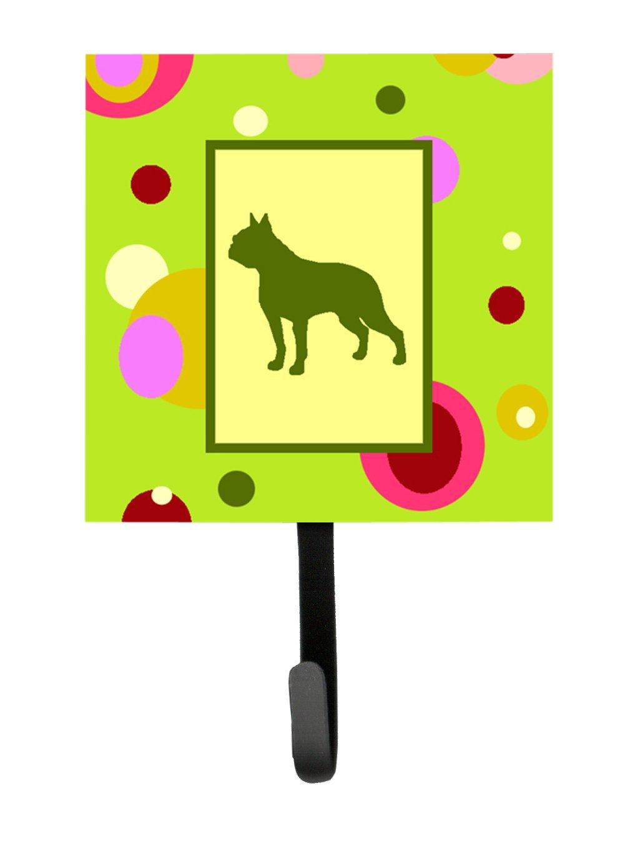 Caroline's Treasures CK1109SH4 Boston Terrier Leash Holder or Key Hook, Small, Multicolor