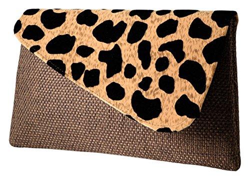 Nala Clutch Purse, - Brown Leopard -