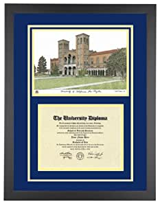 Amazon Com Ucla Diploma Frame With Artwork In Standard