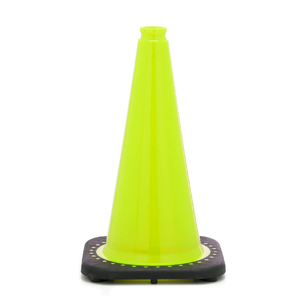 JBC 18 Lime PVC Revolution Series 1-Piece Traffic Cone With Black Base