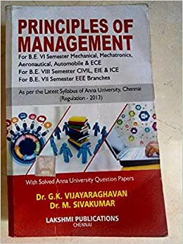 Amazon in: Buy Principles of Management by Vijayaraghavan Book