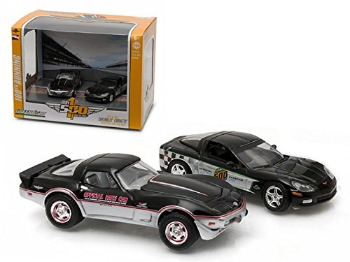 1978 & 2008 Chevrolet Corvette Indianapolis Indy 500 Pace Cars Set of 2 1/64 by Greenlight 29872