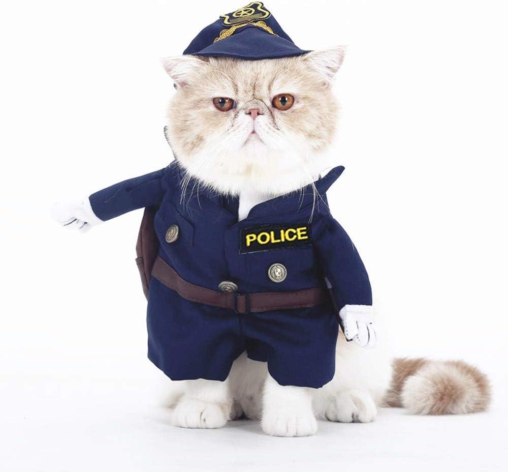 smalllee de la Suerte Store Gato Perro policía Disfraz Ropa para Perros pequeños Pet Puppy Menores DE 20Libras