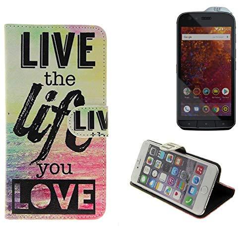 K-S-Trade 360° Funda Smartphone para Caterpillar Cat S61, Live The ...