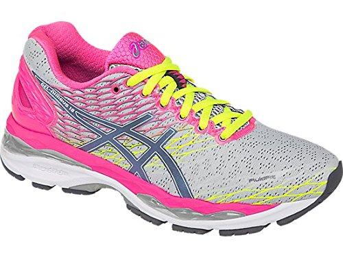 Price comparison product image Asics Gel Nimbus 18 Running Sport Shoes silver / pink / neon,  EU Shoe Size:35.5 EU