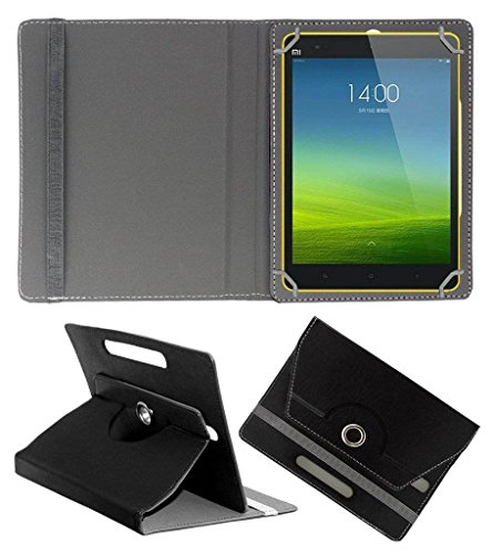 Acm Rotating Leather Flip Case Compatible with Xiaomi Mi Pad 8 Tablet Cover Stand Black