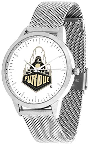 Purdue Boilermakers - Mesh Statement Watch - Silver Band