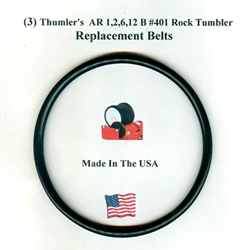 Replacement Drive Belt for Thumler's AR 1,2,6,12 B #401 Rock Tumbler-3 pack