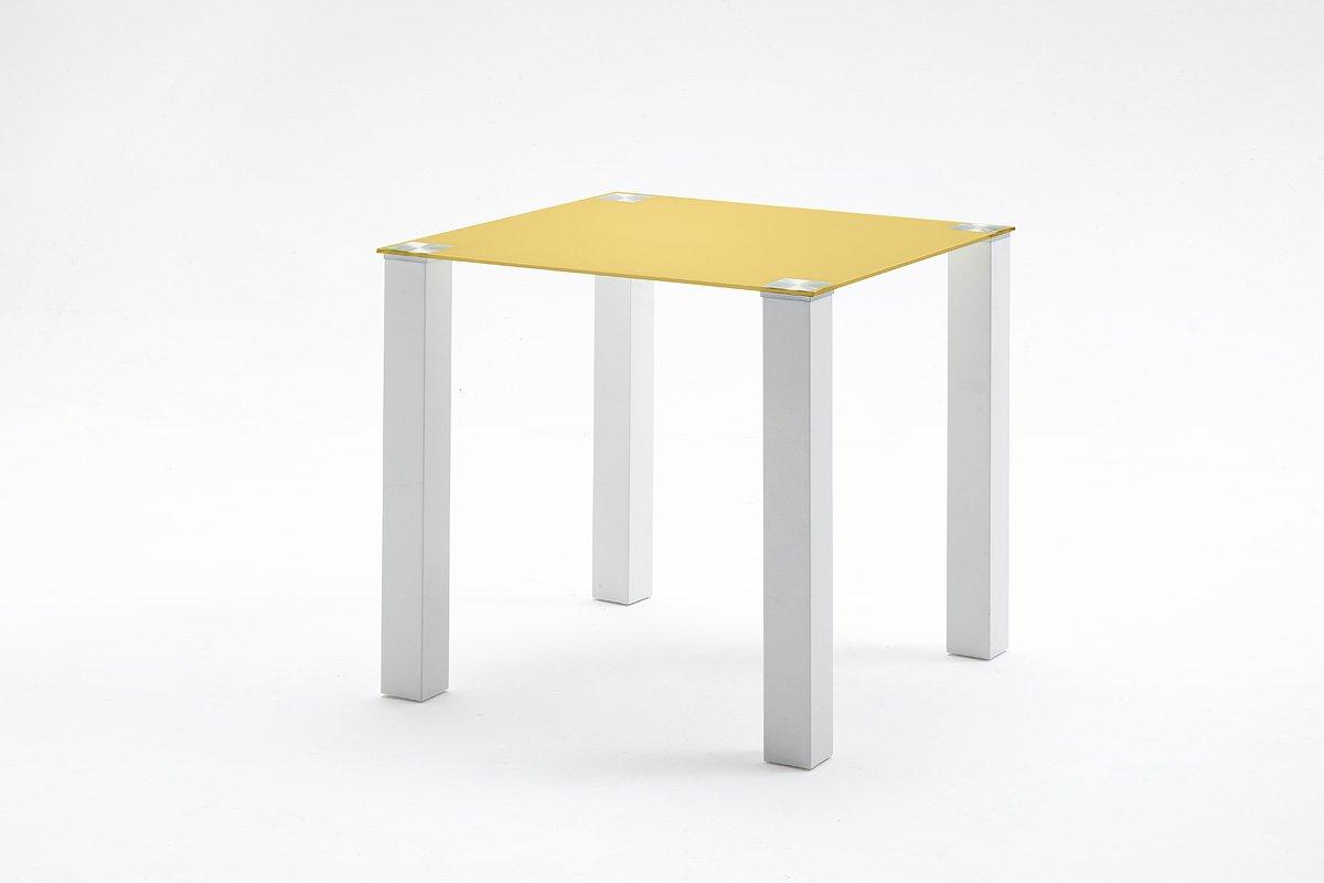 Robas Lund, Tisch, Esszimmertisch, Glastisch, Hanna, Hochglanz weiß curry,  HA80HWCU