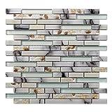 glass backsplash tiles  Decorative Tile Starfish and Conch Mosaic Tile for Kitchen Backsplash or Bathroom Backsplash (5 Pack)