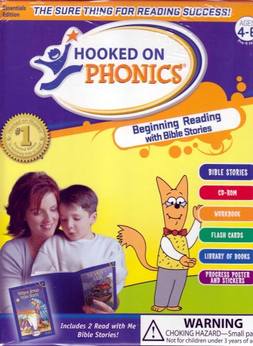 Hooked on Phonics: Beginning Reading with Bible Stories by Hooked on Phonics (Image #1)