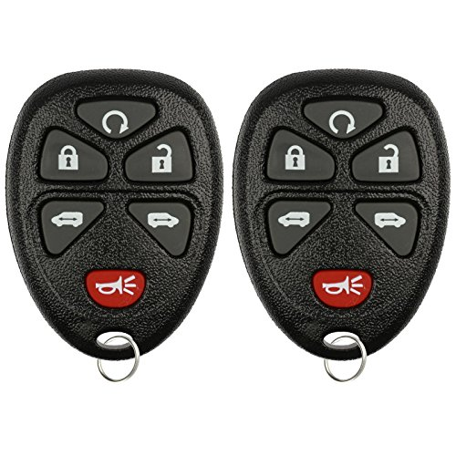 KeylessOption Keyless Entry Remote Control Car Key Fob Replacement for 15114376 (Pack of 2)