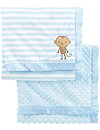 Baby Boys' 2-Pack Plush Blankets
