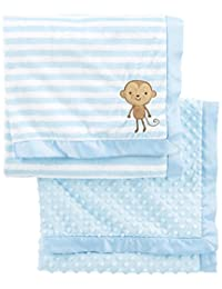 Simple Joys by Carter's Baby Boys' 2-Pack Plush Blankets