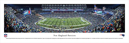 New England Patriots - End Zone - Night - Blakeway Panoramas Unframed NFL Posters