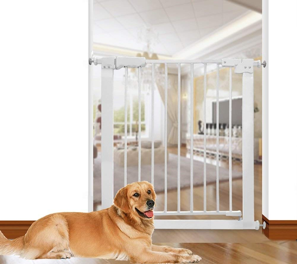 Huo Baby Gate Auto Close Metal Safety Gate, Easy Open Walk-Thru Secure Gate Great for Pets and Children (Size : Width 173-183cm)