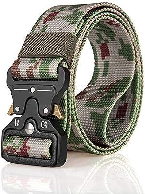 Men's Army Fans Nylon Tactical Belt Multifunctional Outdoor