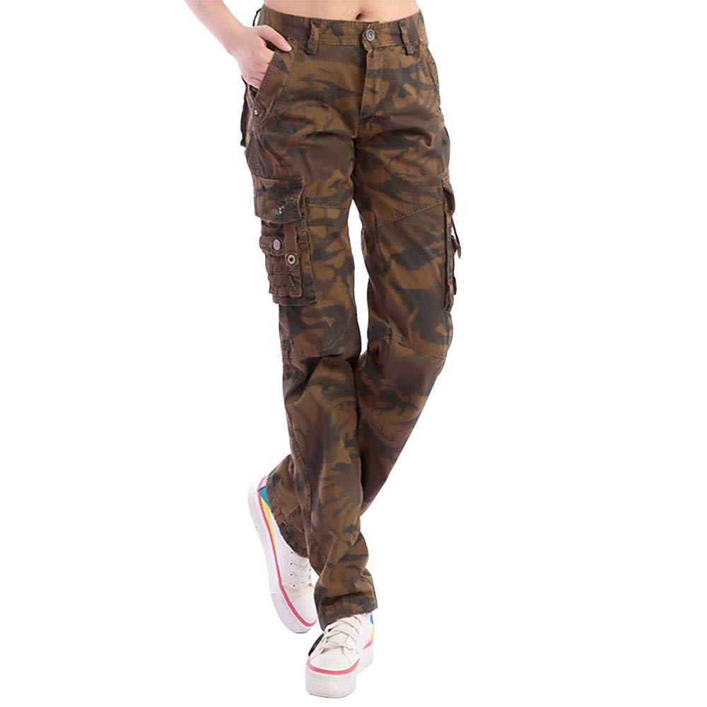 Green EVEDESIGN Women's Camoflage Fitted Military Pants