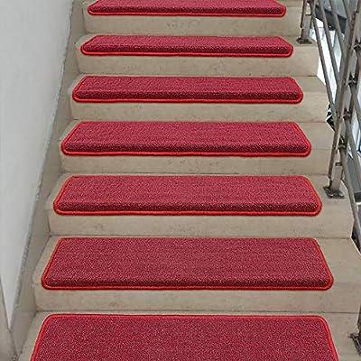 JJZGW Alfombra de Escalera Simple Cuadrada/Escalera Resistente al Desgaste de Pegamento Libre de Pegamento/Estera autoadhesiva para peldaños (Paquete de 1) Alfombra con peldaño para escaleras,90: Amazon.es: Deportes y aire libre