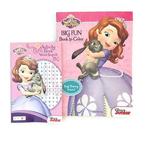 Sofia The First Coloring Book an Activity Word Search Book (Cinderalla Dress)