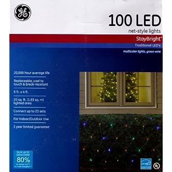 Amazon Com Ge 100 Led Net Style Holiday Light