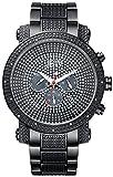 JBW JB-8102-G Men's Chronograph Diamond Watch, Black Band