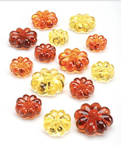 Acrylic Pumpkin Gems- Table Scatter, Vase Filler, and Fall Decoration