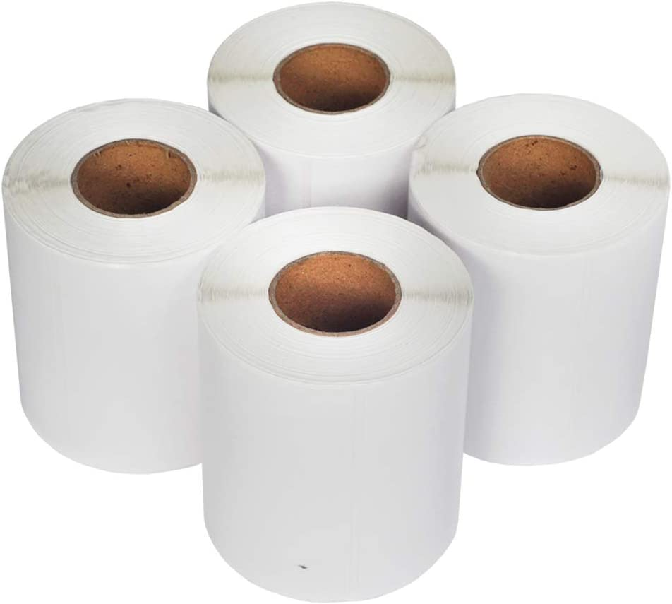 L LIKED 10 Rolls 4 x 6 Direct Blank Thermal Shipping Labels with 250 Labels//Roll Compatible Zebra 2844 ZP-450 ZP-500 ZP-505