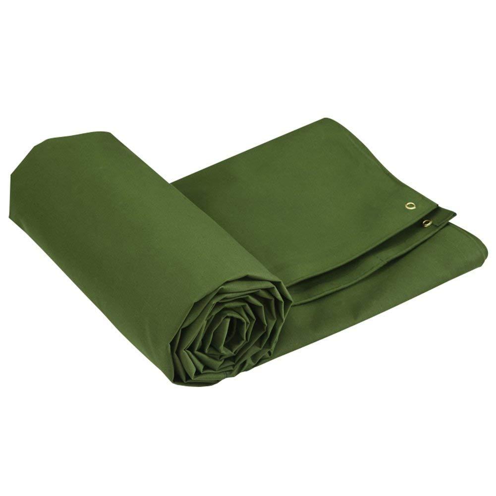 JINSH Zelt im Freien Plane Dicke regendichte Wasserdichte Logistik LKW BAU staubdicht Winddicht Schuppenstoff atmungsaktiv Anti-Korrosion (Farbe   Grün, Größe   4x6M)