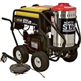 - NorthStar Gas Powered Wet Steam & Hot Water Pressure Washer - 3,000 PSI, 4.0 GPM, Honda Engine