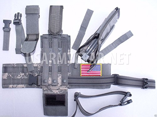 New Made in USA Army Military ACU Digital Camo Airsoft Drop Leg MOLLE Universal UH-92F-MS-UCA Holster Set Extension + Straps Eagle by Eagle Industries U.S. Government by Eagle Industries
