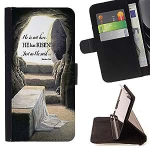Dragon Case - FOR Samsung Galaxy Note 4 IV - He is not here - Caja de la carpeta del caso en folio de cuero del tir¨®n de la cubierta protectora Shell