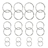 50 Pcs DIY Metal Round Edged Flat Split Circular Key Chain Keychain Ring Clips for Car Home Keys Album Book Binding Rings Organization