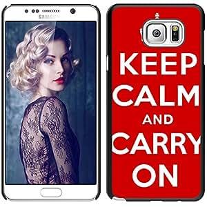 Print Motif Coque de protection Case Cover // V00001601 mantenga la calma y continúe // Samsung Galaxy Note 5 V (Not fit S5)