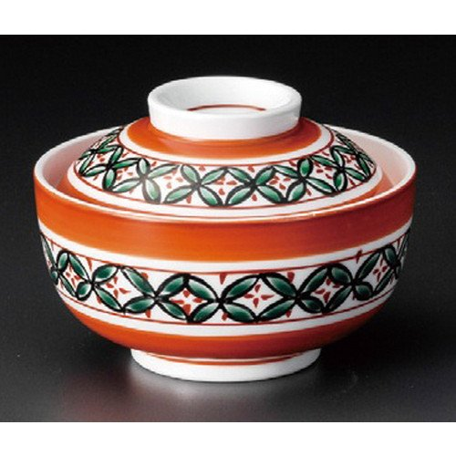 Bowl Cloisonne - Lidded bowl Soup Bowl with Lid, Salad Bowl size [ 119 x 83mm ] strengthen Red Cloisonne Circle Candy Bowl Japanese dish plates traditional oriental asian