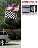 Patch Collection Flag Pole 16 Ft. Wheel Mount Foldable Game Day Tailgate