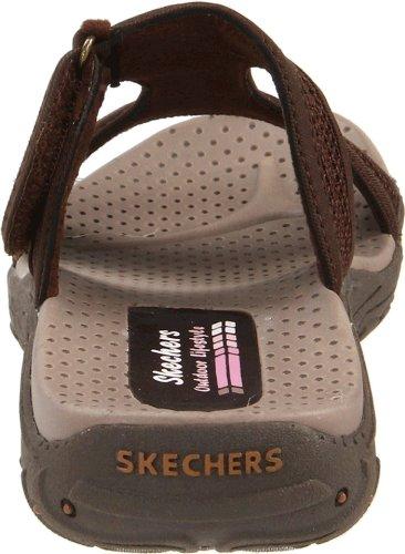 Skechers Kvinners Reggae Rockfest T Stropp Sandal, Sjokolade, 6 M Oss