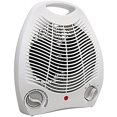 Portable Electric Space Heater 3 Settings 1500w Fan Forced Adjustable Thermostat by WholesalePlumbing