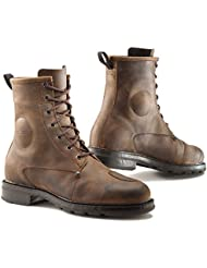TCX X-Blend WP Mens Street Motorcycle Boots - Vintage Brown / US 8.5 / Size 42