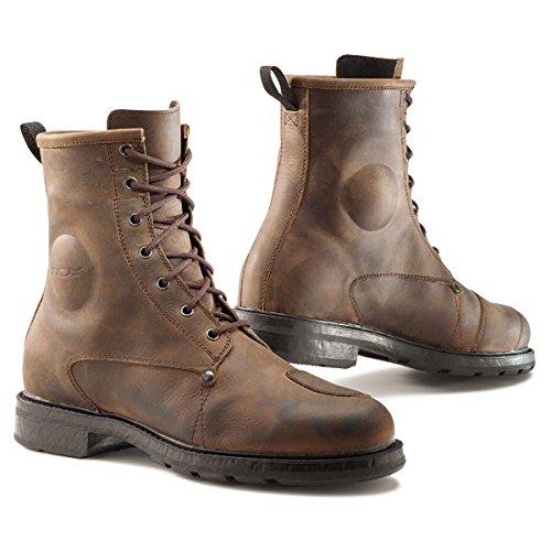 X Vintage Motorcycle WP Size Mens Street Brown Us Boots Eu TCX 10 7300W Blend 44 fq4wfI5