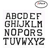 Okdeals 2 Set Alphabet Letter A-Z Embroidered Iron On Patch Sew on Applique Accessory