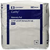 "Covidien 2022A Curity Maternity Pad, 4-3/10"" x 12-1/4"" Size (Pack of 14)"