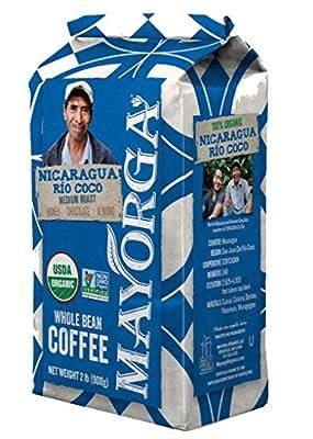 Nicaragua Río Coco, 2lb, 100% USDA Organic Certified Whole Bean Coffee, Medium RoastLimited Edition) by Mayorga Organics LLC