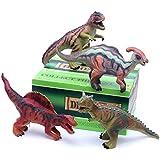 "14"" Jumbo Dinosaur Figures 4-Set, Realistic Looking Sound Toys (503A)"