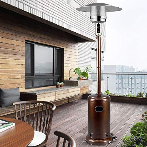 mecor Patio Heaters Commercial 41,000 BTU Propane Stainless Steel Outdoor Garden Heate (Bronze)