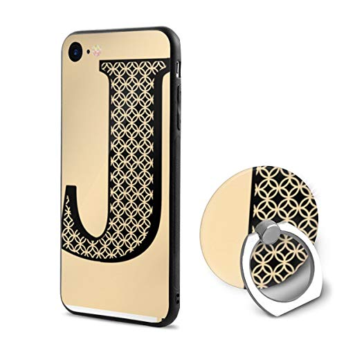 Cool Letter J PC iPhone 6/iPhone 6s Phone Case Protective 3D Slim Back Cover 4.7 Inch Ultra Thin & Light Soft Touch Feeling Flexible Anti-Scratch for iPhone 6/6s (J Letter Iphone 6 Case)