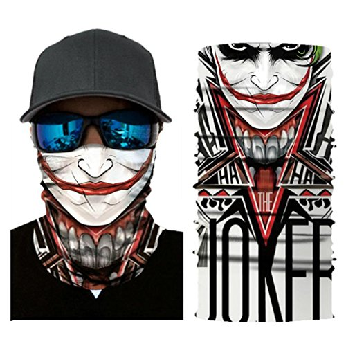 Versatile Face Mask Shields - Casual Balaclava Headwear- Stretchable Bandana Headbands- Wind/Sun/UV Protection- for Cycling, Motorcycling, Fishing ()