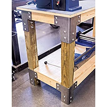 Stupendous Eastwood 8 Pieces Sturdy Steel Angle Brackets Shop Table Kit Unpainted Bare Steel Multi Angle Joint Fastener Shelf Support For Desk Edge Box Wood Pdpeps Interior Chair Design Pdpepsorg